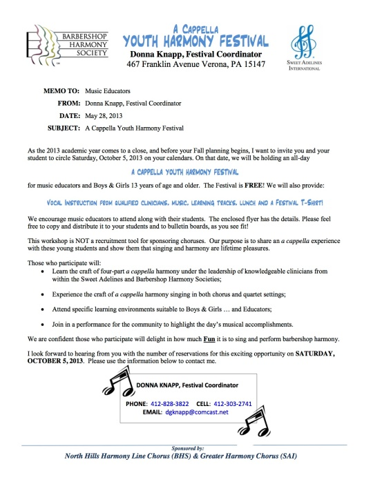 Memo to Music Educators on Letterhead Rev 1 052713